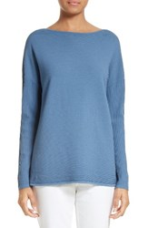 Lafayette 148 New York Women's V Back Ribbed Sweater Riptide