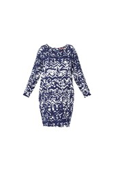 Maiocci Collection Graphic Shift Dress Blue