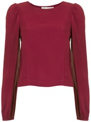 Lilly Sarti Long Sleeved Blouse Red