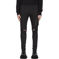 Julius Black Track Cargo Pants