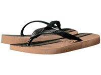 Havaianas Top Conceitos Flip Flops Rose Gold Black Men's Sandals