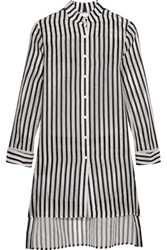 Rosie Assoulin Striped Silk Shirt White