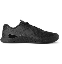 Nike Training Metcon 3 Textured Mesh And Rubber Sneakers Black