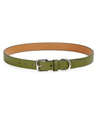 Lauren Ralph Lauren Textured Faux Leather Belt Green