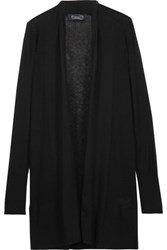 Magaschoni Ribbed Cashmere Cardigan Black