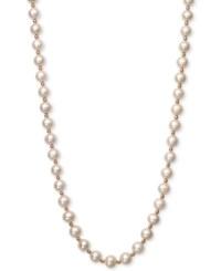 Belle De Mer White Cultured Freshwater Pearl 7 1 2Mm And Gold Bead Collar Necklace In 14K Rose Gold