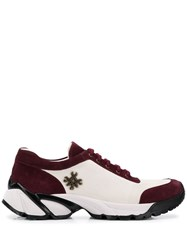 Mr And Mrs Italy Burgundy Suede Sneakers White