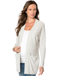 A Pea In The Pod Maternity Pocketed Wool Cardigan Ash