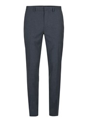 Topman Blue Navy Marl Skinny Fit Suit Trousers