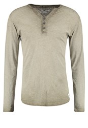 Solid Haiden Long Sleeved Top Dusty Oli Oliv