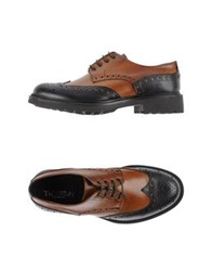 Thompson Lace Up Shoes Tan