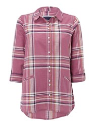 White Stuff Effortless Check Shirt Pink
