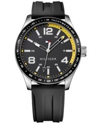 Tommy Hilfiger Men's Table Sport Black Rubber Strap Watch 44Mm 1791174