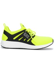 Emporio Armani Ea7 Runner Sneakers Yellow And Orange