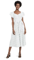Rebecca Taylor La Vie Poppy Fields Dress Milk Combo