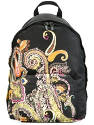 Etro Paisley Print Backpack Black