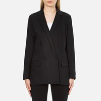 Michael Michael Kors Women's Mensie Pocketstitch Blazer Black