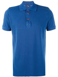 Kiton Classic Polo Shirt Men Cotton L Blue