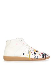 Maison Martin Margiela Replica Paint Splatter High Top Trainers