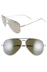 Electric Eyewear Women's Electric 'Av1 Xl' 62Mm Aviator Sunglasses Platinum Grey Silver Chrome