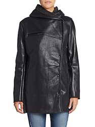 Sam Edelman Faux Shearling Coat Black