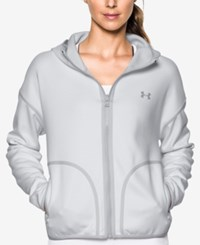 Under Armour Double Threat Storm Water Resistant Jacket Glacier Gray