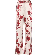 Johanna Ortiz Pissarro Silk Wide Leg Trousers White