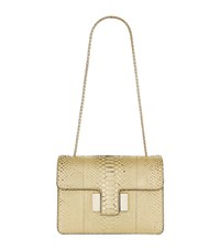 Tom Ford Large Sienna Python Shoulder Bag Female White Gold
