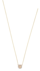 Kacey K Cutout Star Necklace Gold Clear