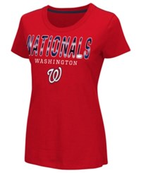 G3 Sports Women's Washington Nationals Round The Bases Foil T Shirt Red