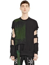 Hba Hood By Air Punk Cut Out Sleeves Cotton Sweatshirt