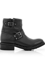 Ash Speed Double Buckle Boot Black