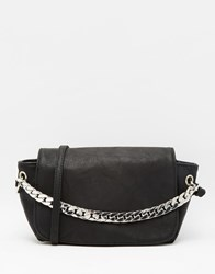 Pieces Cross Body Bag With Chain Strap Black