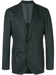 Hackett Plaid Blazer Green