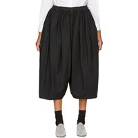 Comme Des Garcons Black Gathered Waistband Trousers