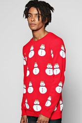 Boohoo Christmas Jumper Red