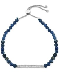Giani Bernini Cubic Zirconia And Sodalite 11 Ct. T.W. Slider Bracelet In Sterling Silver Only At Macy's