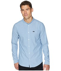 Rvca That'll Do Stretch Long Sleeve Woven Bright Blue Clothing