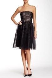 Vera Wang Strapless Tulle Ballerina Skirt Dress Black