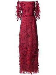 Marchesa Notte Embroidered Off The