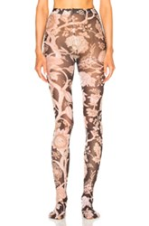 Zimmermann Paisley Chintz Leggings In Brown Floral Pink Brown Floral Pink