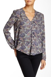 Astr Woven Blouse Juniors Blue