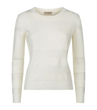 Burberry Check Knit Wool Cashmere Jumper Female White