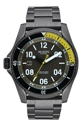 Nixon Men's 'Descender' Bracelet Watch 45Mm Gunmetal