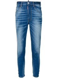 Dsquared2 High Waisted Jeans Women Cotton Elastodiene 38 Blue