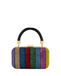Alice Olivia Shirley Rainbow Large Clutch Bag Multi Pattern