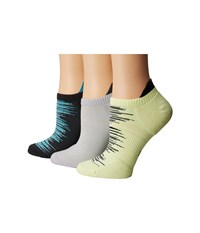 Hue Air Sleek Tab Back Liner With Cushion 3 Pack Neon Citrus Pack Women's Crew Cut Socks Shoes Multi