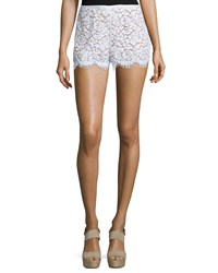 Michael Kors Mid Rise Lace Mini Shorts White
