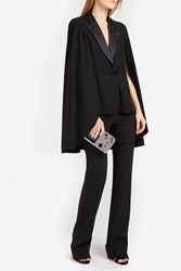 Elie Saab Women S Wool Cape Jacket Boutique1 Black