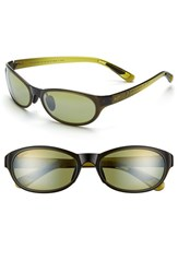 Women's Maui Jim 'Pipiwai Trail' 56Mm Polarized Sunglasses Olive Fade